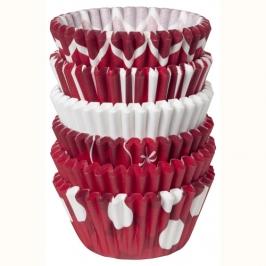 Pack de 150 mini cápsulas Rojo Navidad