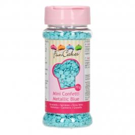 Mini Confetti de Azúcar Azul Perlado