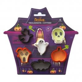 Mini Cortadores de Galletas Halloween 6 ud
