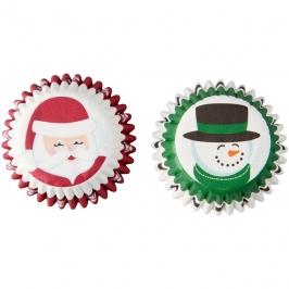 Mini Cápsulas Santa Claus y Muñeco de Nieve