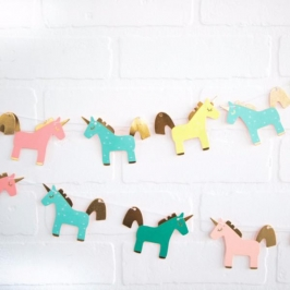 Mini Guirnalda de Unicornios