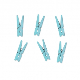 Mini Pinzas Azul Cielo