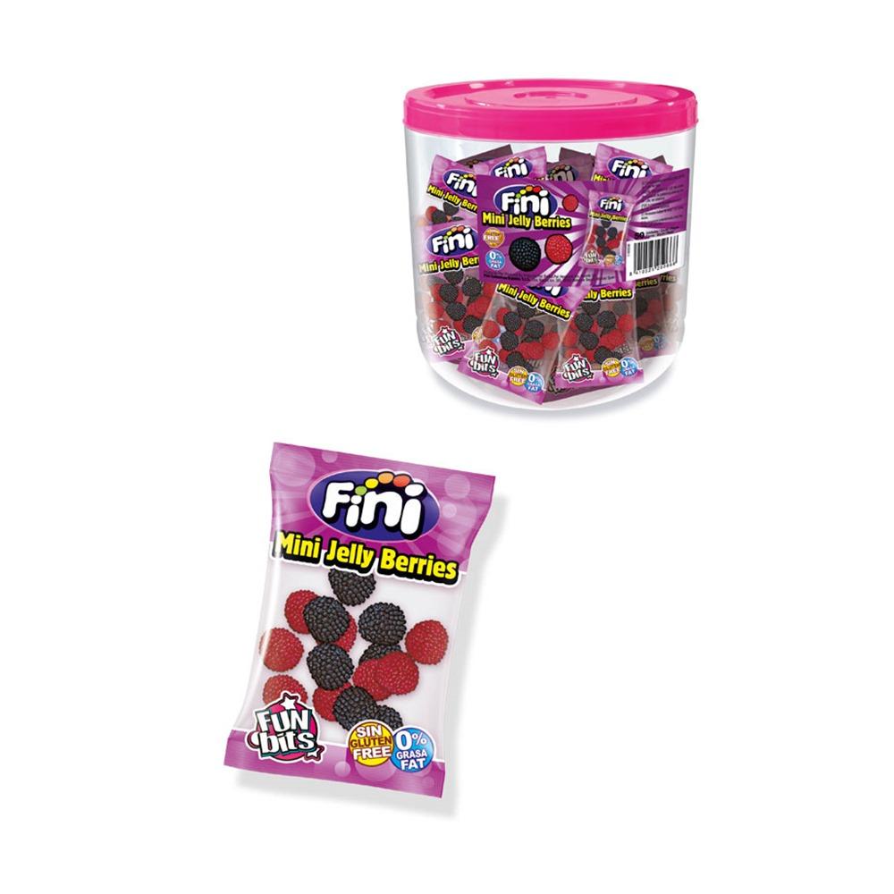 Mini Moras Rojas y Negras Envase Individual 18 gr - 50 Bolsas