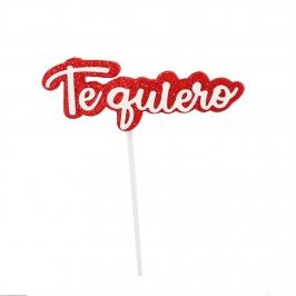 Mini Toppers Te Quiero 9 cm 6 ud