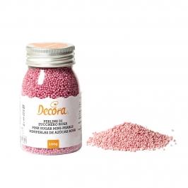 Mini Perlas de Azúcar Rosa 100 gr - DECORA