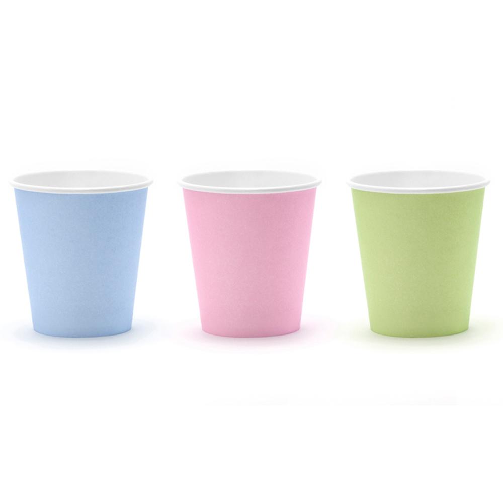 Mix de 6 vasos en colores pastel de 180 ml