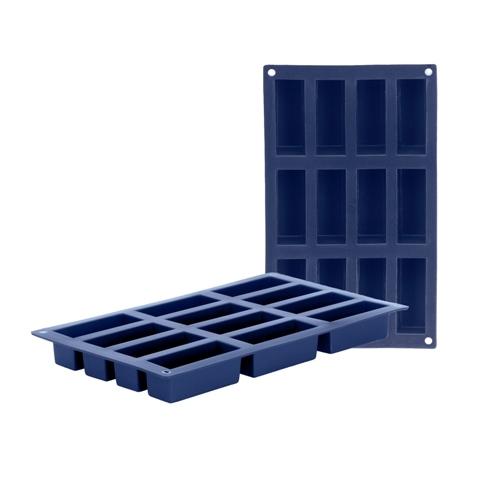 Molde 12 cavidades rectangulares Ibili
