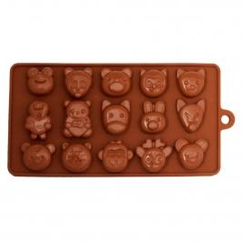 Molde para chocolate animales del bosque