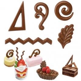 Molde para chocolate Decoraciones para postres