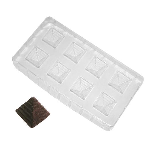 Molde para chocolate pirámides