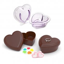 Molde de policarbonato para hacer corazones de chocolate de 9 cm