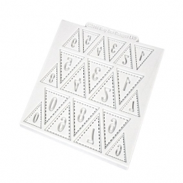 Tapete de silicona Banderines con números