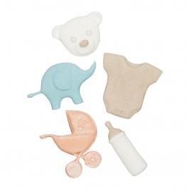 Molde de silicona complementos de bebé