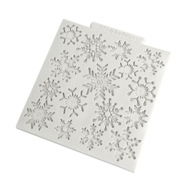 Tapete de silicona copos de nieve