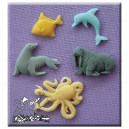 Molde de Silicona Criaturas del mar