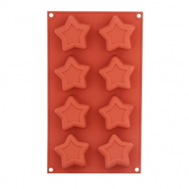 Molde de Silicona Estrellas
