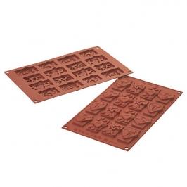 Molde de Silicona para Chocolate Love Tags