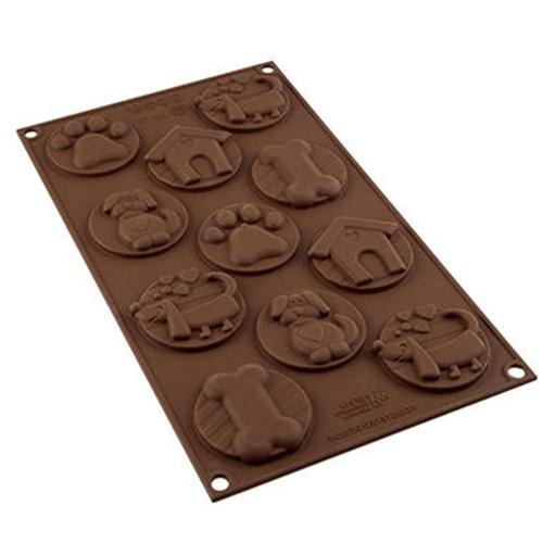 Molde de Silicona para Chocolate Mascotas