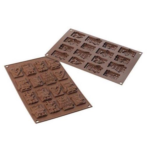 Molde de Silicona para Chocolate Xmas Tags