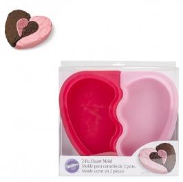 Molde de 2 piezas para tarta corazón