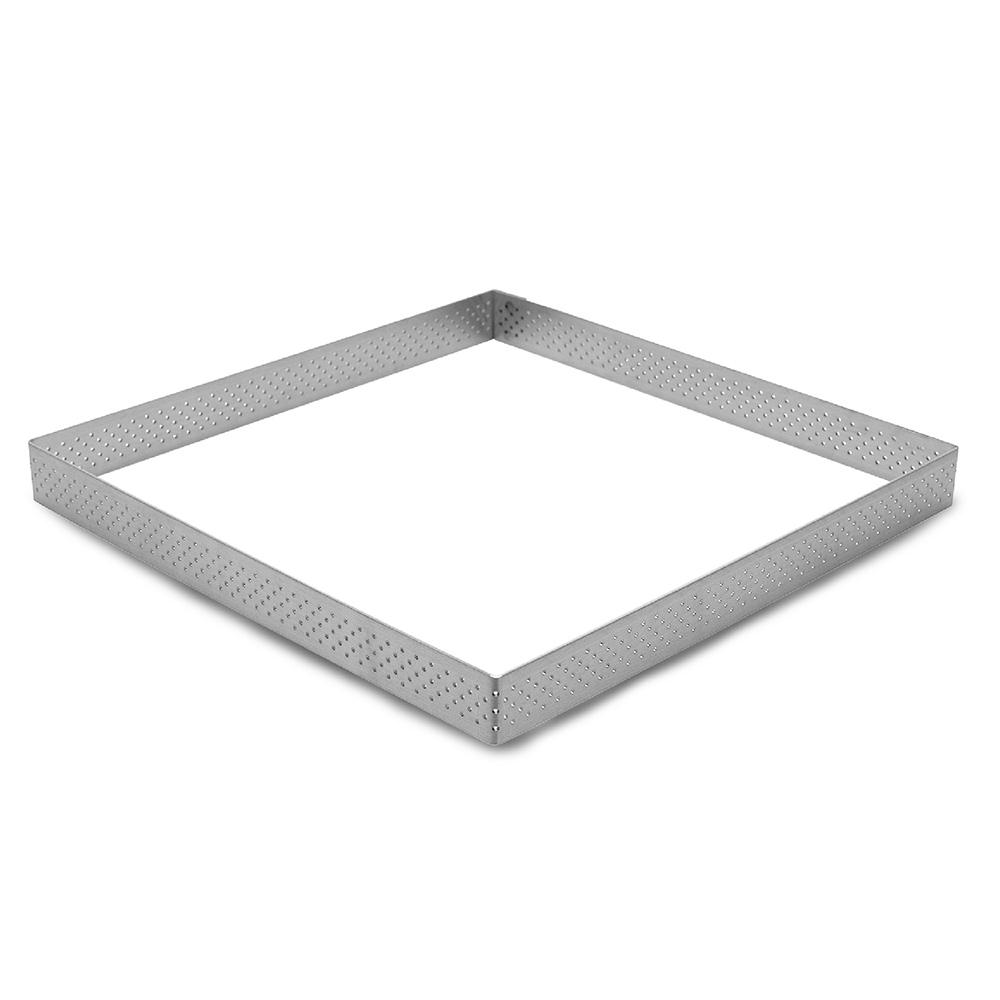 Molde Marco Cuadrado Perforado para Tartas 20 cm