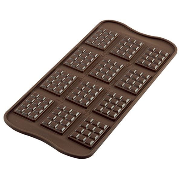 Molde mini tabletas de chocolate