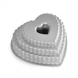 Molde Nordic Ware Tiered Heart Bundt