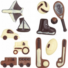 Set 2 Moldes para Chocolate Transportes y Deportes