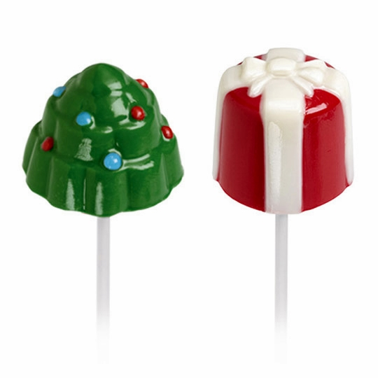 Molde para chocolate arbolito y regalo