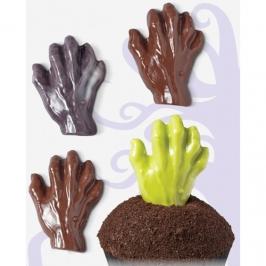 Molde para chocolate mano zombie
