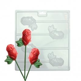 Molde para chocolate rosas de PME