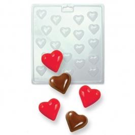 Molde para chocolates en forma de corazones