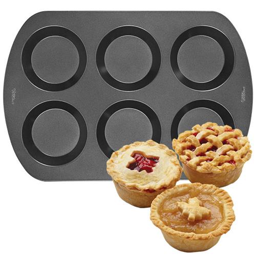 Molde para mini tartas 6 cavidades