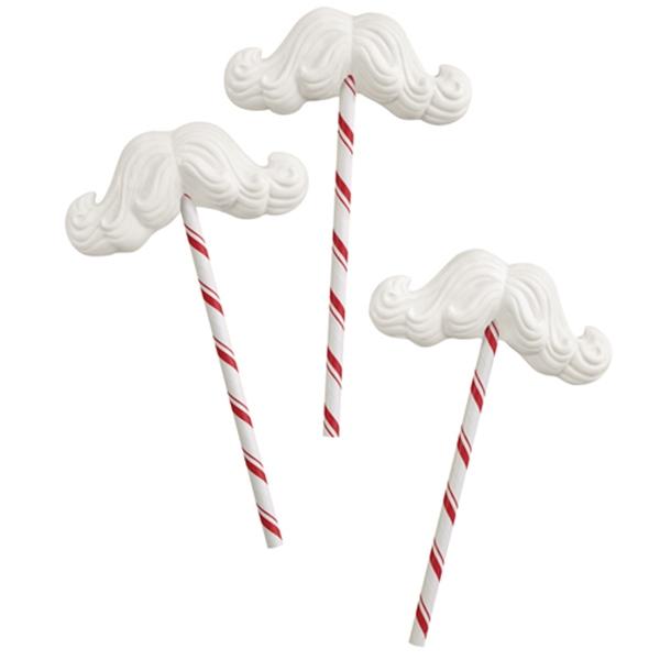 Molde para Piruletas de Chocolate Bigote Papá Noel