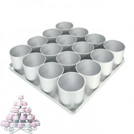 Molde para realizar 16 Mini Tartas de 6cm
