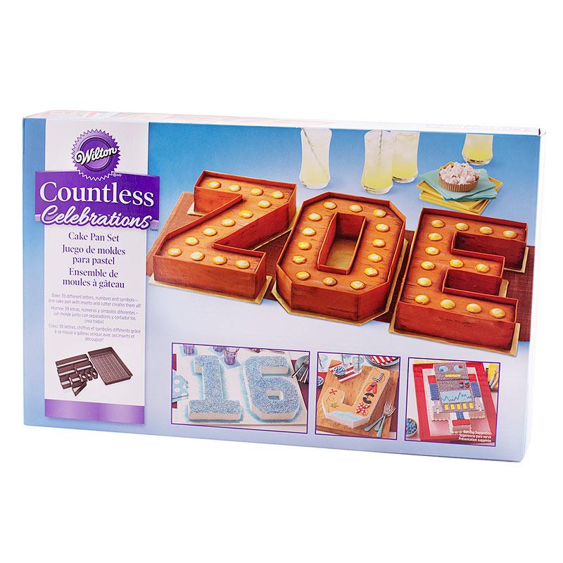 Molde para tartas de Letras y Números