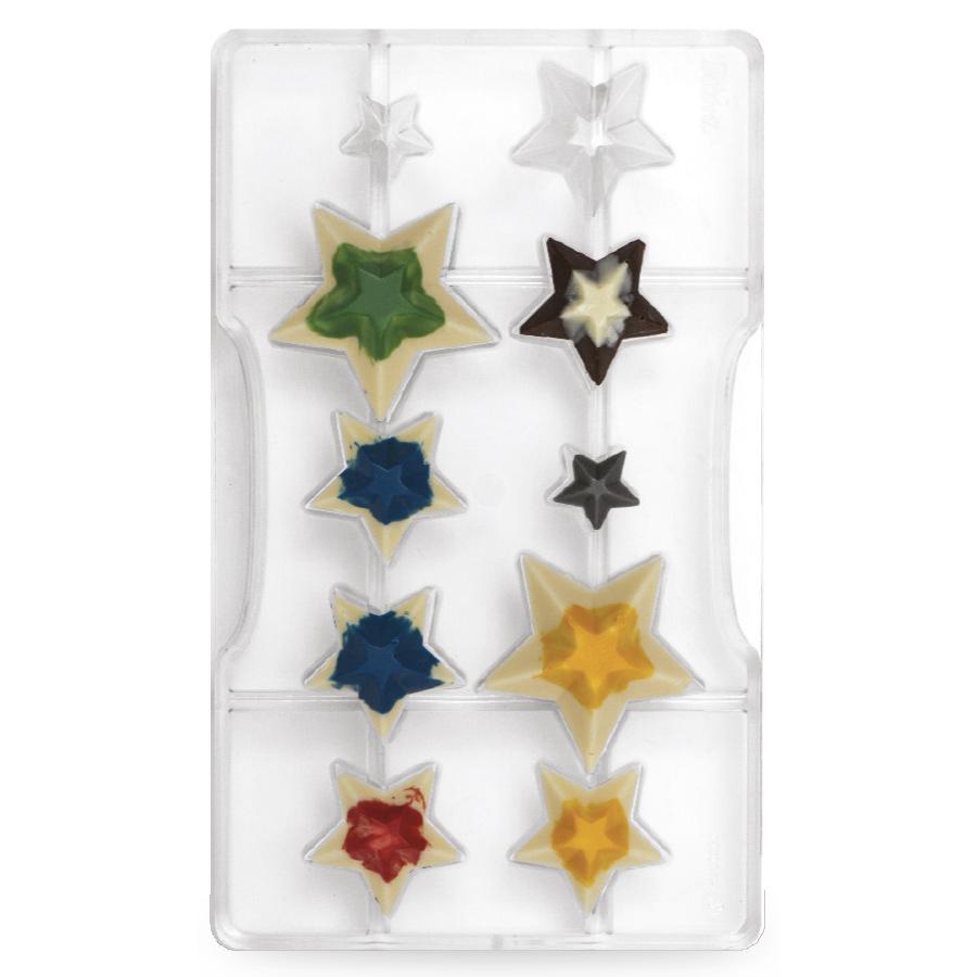 Molde Policarbonato Estrellas