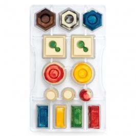 Molde policarbonato formas geométricas