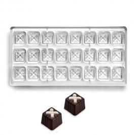 Molde policarbonato para chocolate Cuadraditos