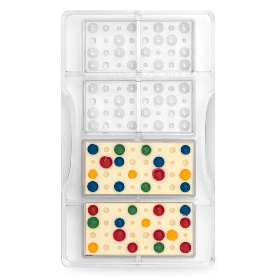 Molde policarbonato para chocolate tableta con burbujas