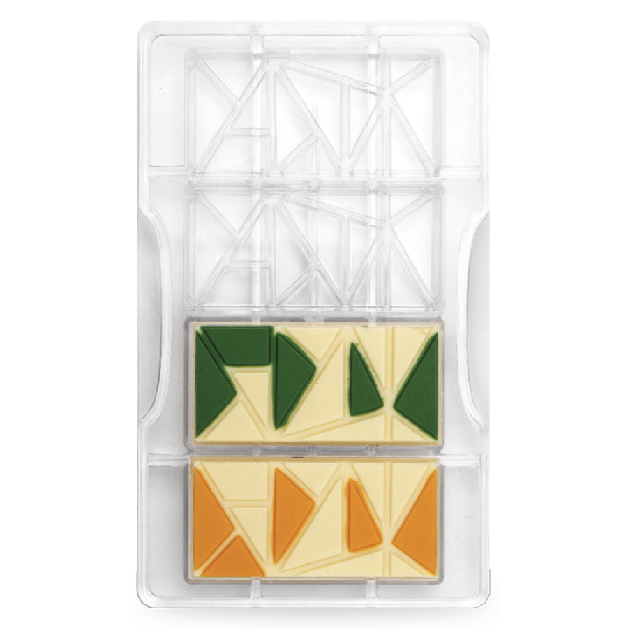Molde policarbonato tableta de chocolate