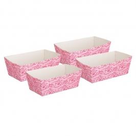 Juego de 4 moldes para hornear Vintage Pink