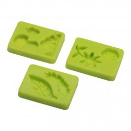 Set de 3 moldes de Silicona Bosque