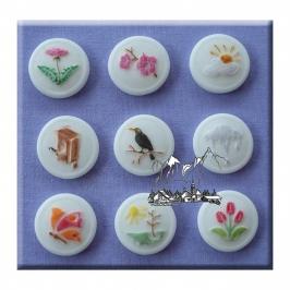Molde de Silicona Spring Buttons