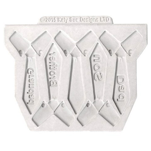 Molde silicona Corbatas