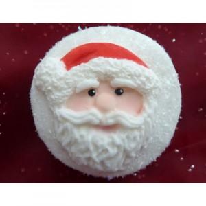 Molde Silicona Cupcake Top Santa Claus