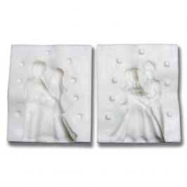 Molde silicona Pareja de novios en 3D