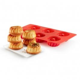 Molde de Silicona Mini Savarin 6 Cavidades