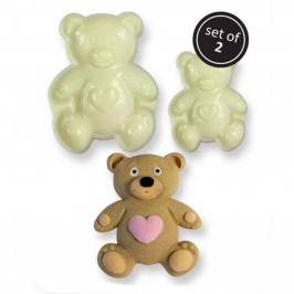 Set de 2 Moldes para Fondant Osito Teddy