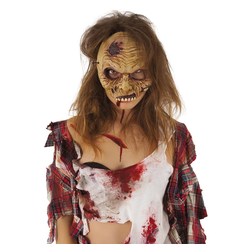 Máscara Zombie Media Cara
